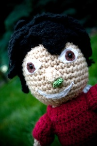 Crocheted Bob's Booger Close Up